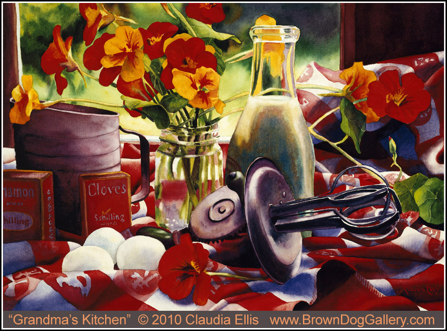 Country Kitchen Food Painting
