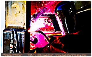 Welding, welder, industrial, abstract, colorful, ©Bob Swanson